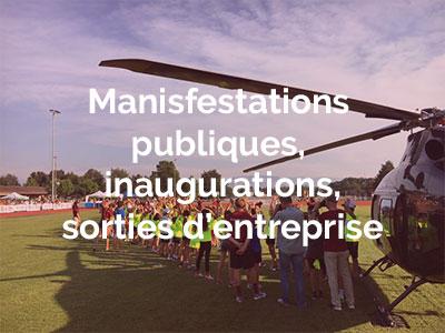 helilausanne-davos-taxi-helico-helicoptere-vols-affaires-commerciales-parachute-bapteme de l'air-helico- suisse-lausanne-blecherette-manifestations-publiques-inaugurations-entreprises
